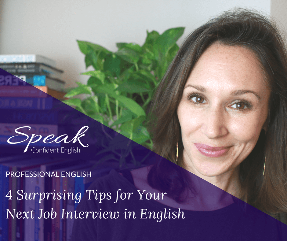 4 Surprising Tips for a Successful Job Interview in English