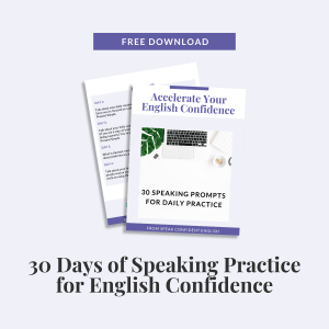 30 Day Speaking Prompts