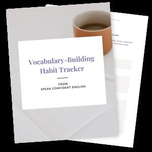 30-Day English Vocabulary Habit Tracker