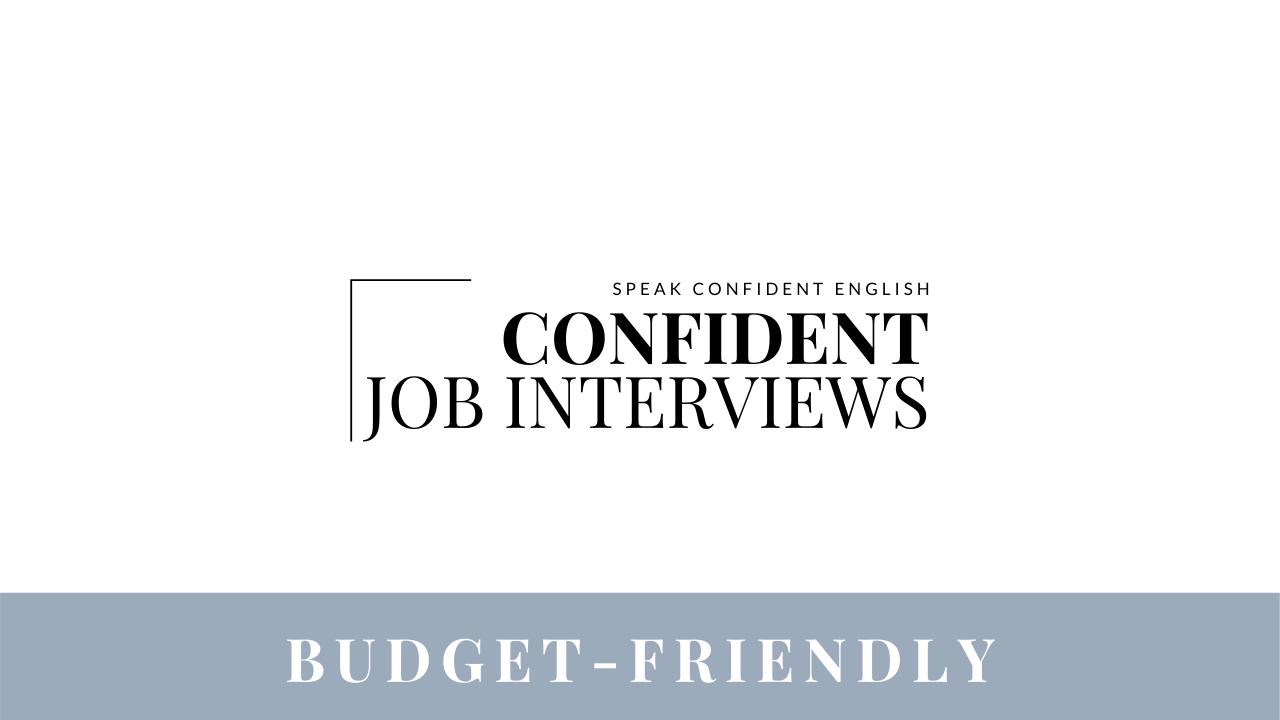 Confident Job Interviews Course_Option 2 Payment